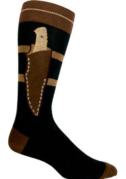 Ozone Boot Knife Sock is a great Sock that shows the Knife strapped onto the Ankle. Looks good in Black, Browns and Ivory.