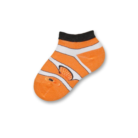 Childrens Real Clown Fish Sock, Tennessee Orange White and Black