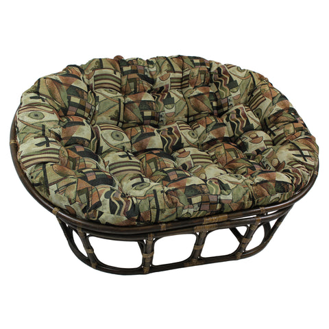 Double Papasan Chair (Mamasan) with Tapestry Cushion