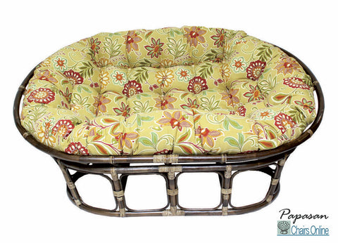 Double Papasan Chair with Outdoor Cushion