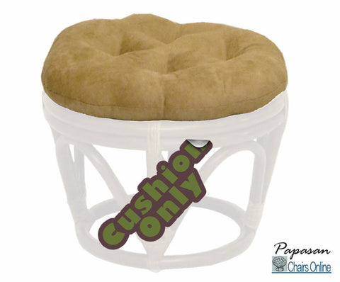"18"" Round Footstool Cushion in Microsuede (Cushion Only)"