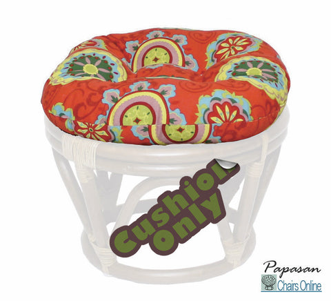 "18"" Round Footstool Cushion in Outdoor Fabric (Cushion Only)"