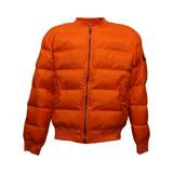 Orange Quilted Bomber Jacket (Unisex)