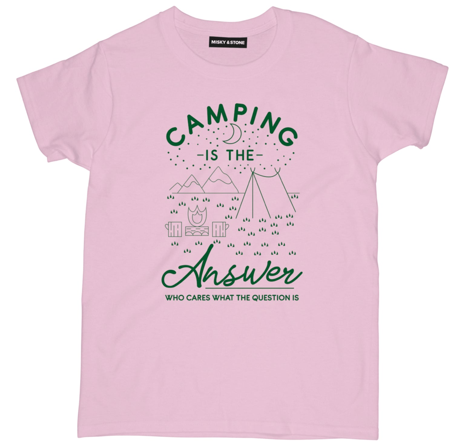 Camping Is The Answer Tee