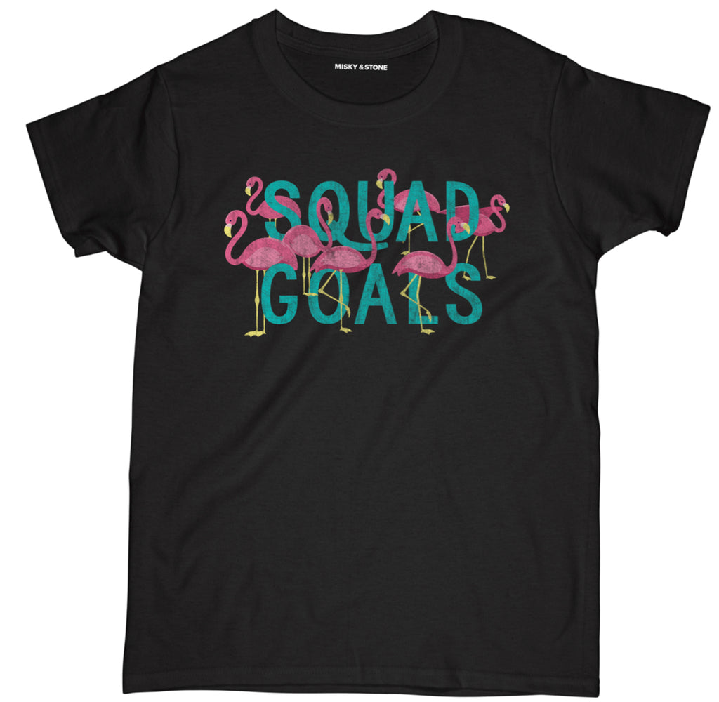 squad goals t shirt, squad goals shirt, squad goals flamingo shirt, squad goals flamingo t shirt, flamingo t shirt, flamingo shirt, flamingo tee shirt, funny flamingo shirt