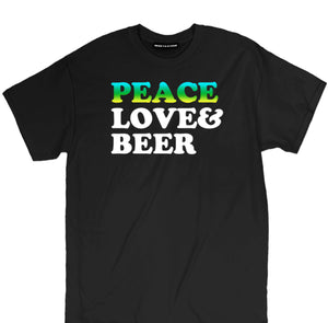 peaace love and beer t shirt, peace tee, love tee, drinking tee, beer shirts, funny beer shirts, beer tees, beer tee shirts, brewery t shirts, craft beer shirts, craft beer t shirts, heineken t shirt, vintage beer shirts, drinking shirts, funny beer t shirts, alcohol shirts, funny drinking shirts