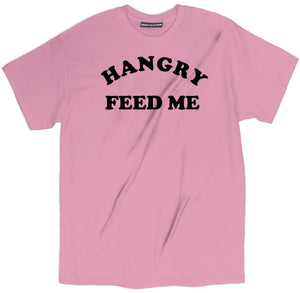 hangry feed me tee shirt, hangry feed me apparel, food pun apparel, food pun clothing, food pun merch, food pun tee shirt