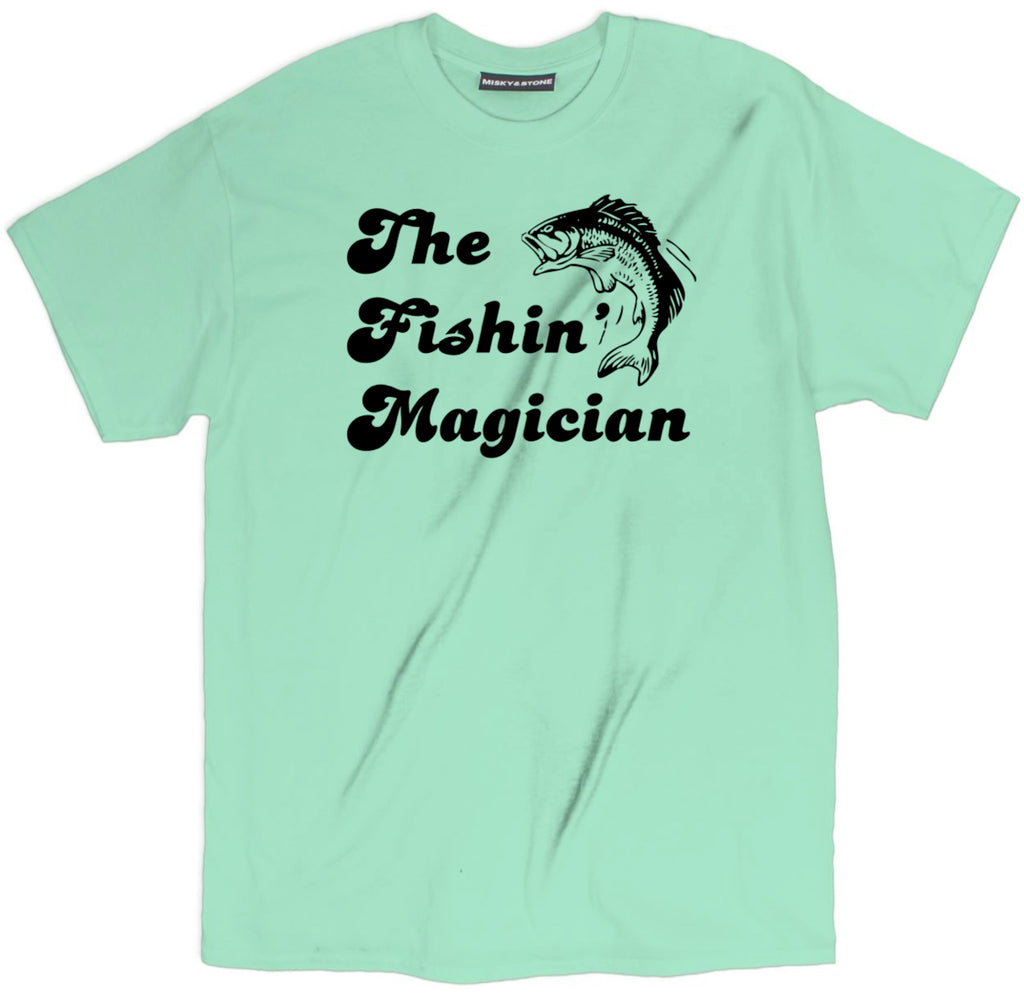 the fishin magician tee, fish tee, fishing shirt, camping shirts, camp shirt, funny camping shirts, camping tee shirts, funny camping t shirts, camp t shirt designs, camp shirt designs, cool camp tees, cool camping tees, camping graphic tees,