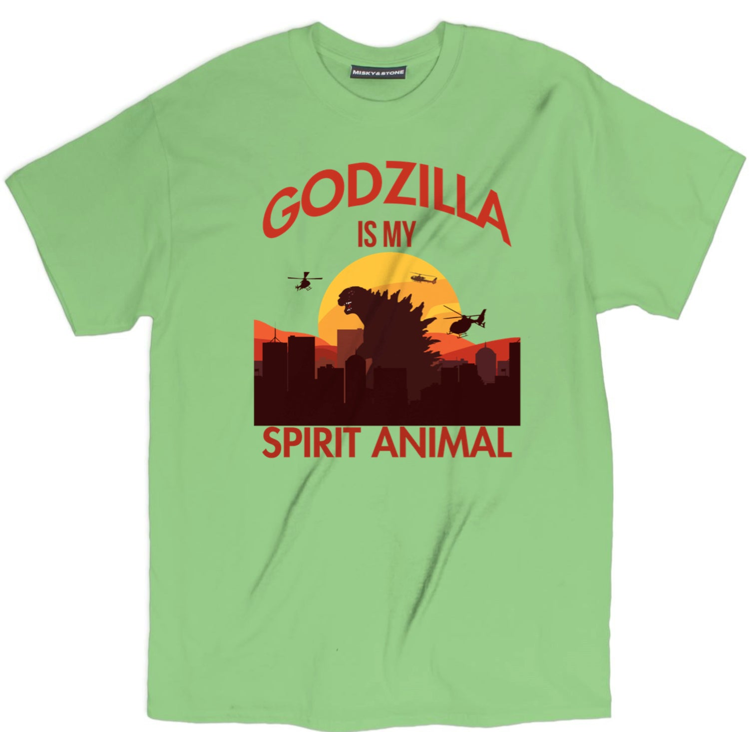 Godzilla Is My Spirit Animal Horizon Tee