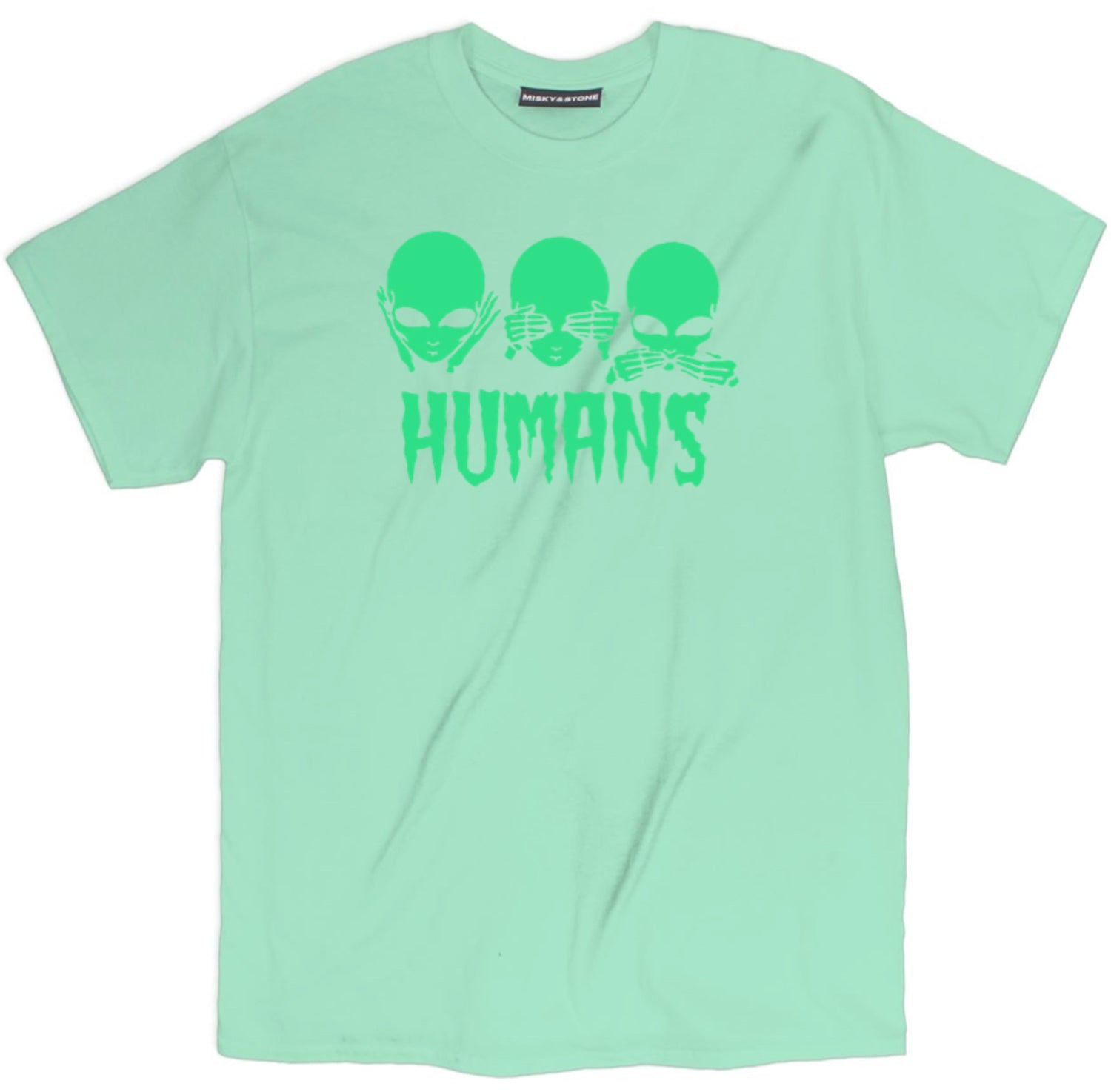 Humans No Evil Alien Rave T Shirt
