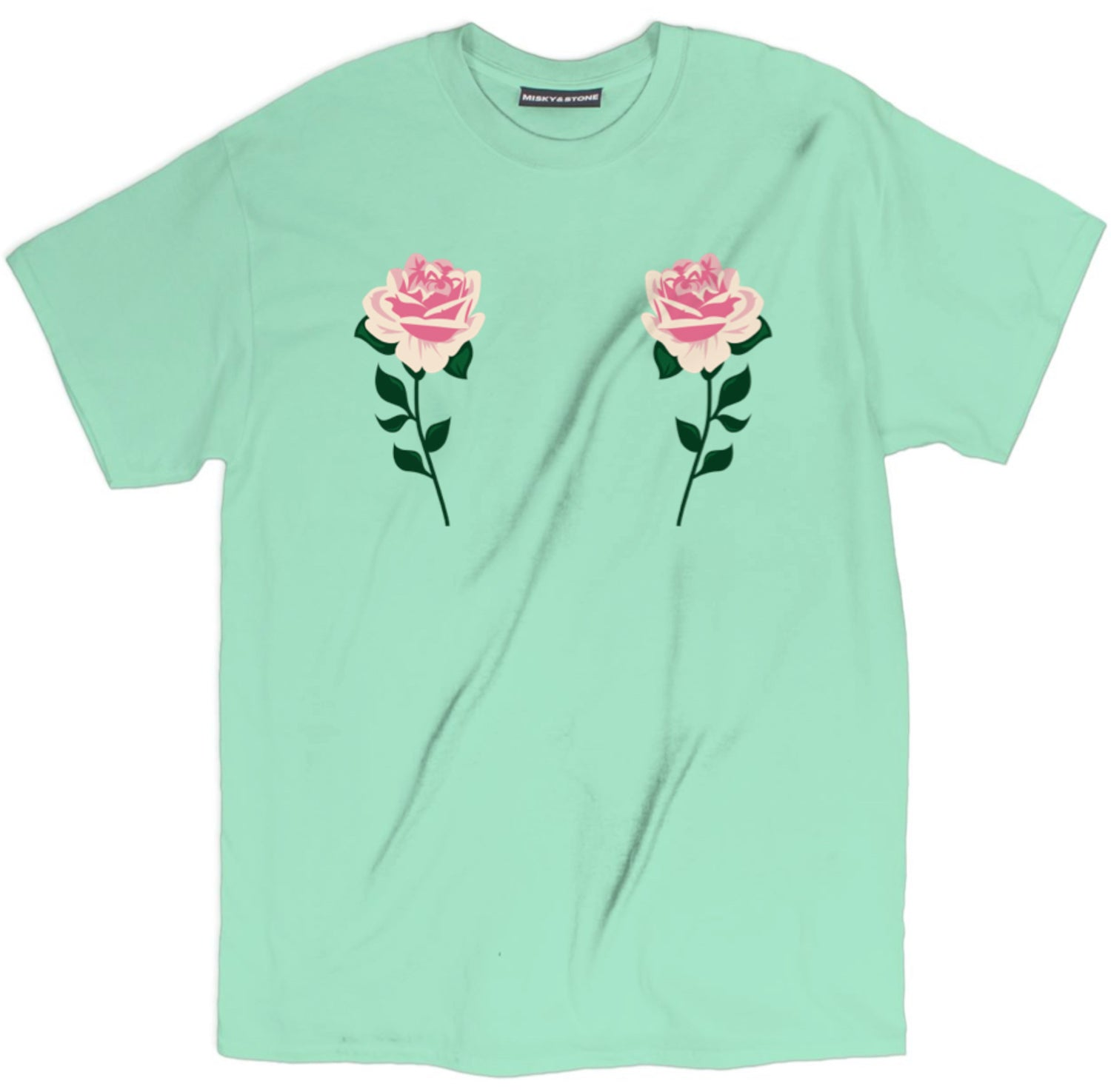 Pink Rose Boob Shirt