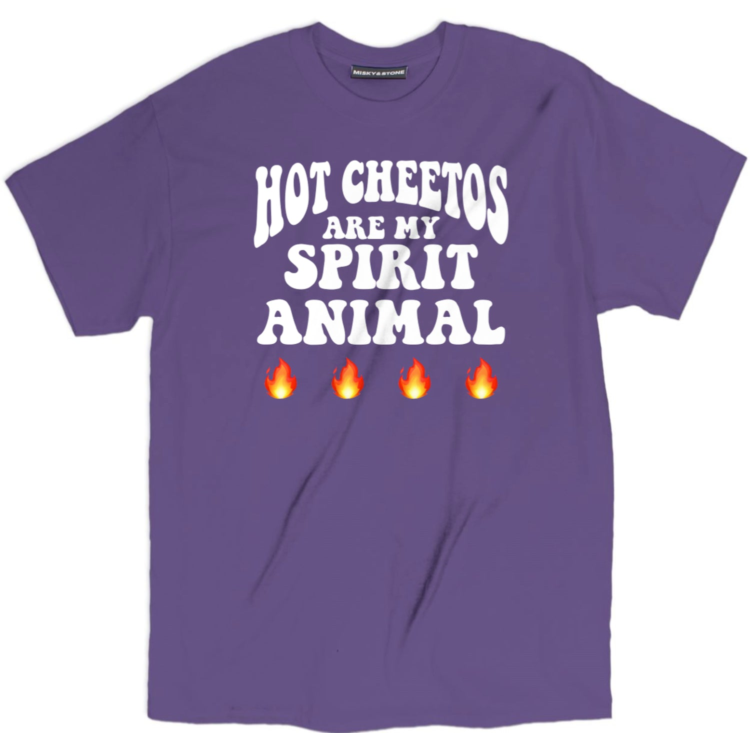 Hot Cheetos Are My Spirit Animal Flaming T Shirt