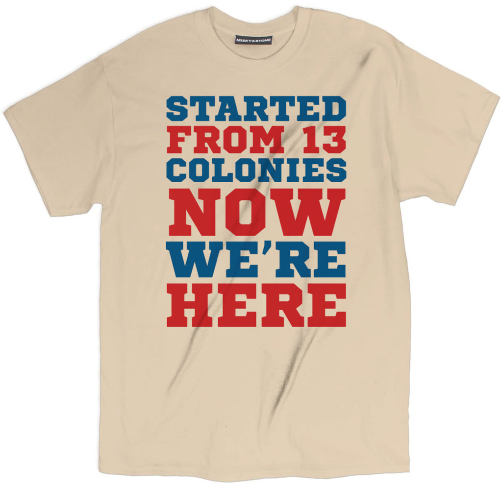 started from 13 colonies now we're here tee shirt, 4th of july tee shirt, fourth of july tee shirt, 4th of july apparel, 4th of july merch, funny 4th of july tee shirt, funny america tee shirt, patriotic tee shirt, funny patriotic tee shirt,