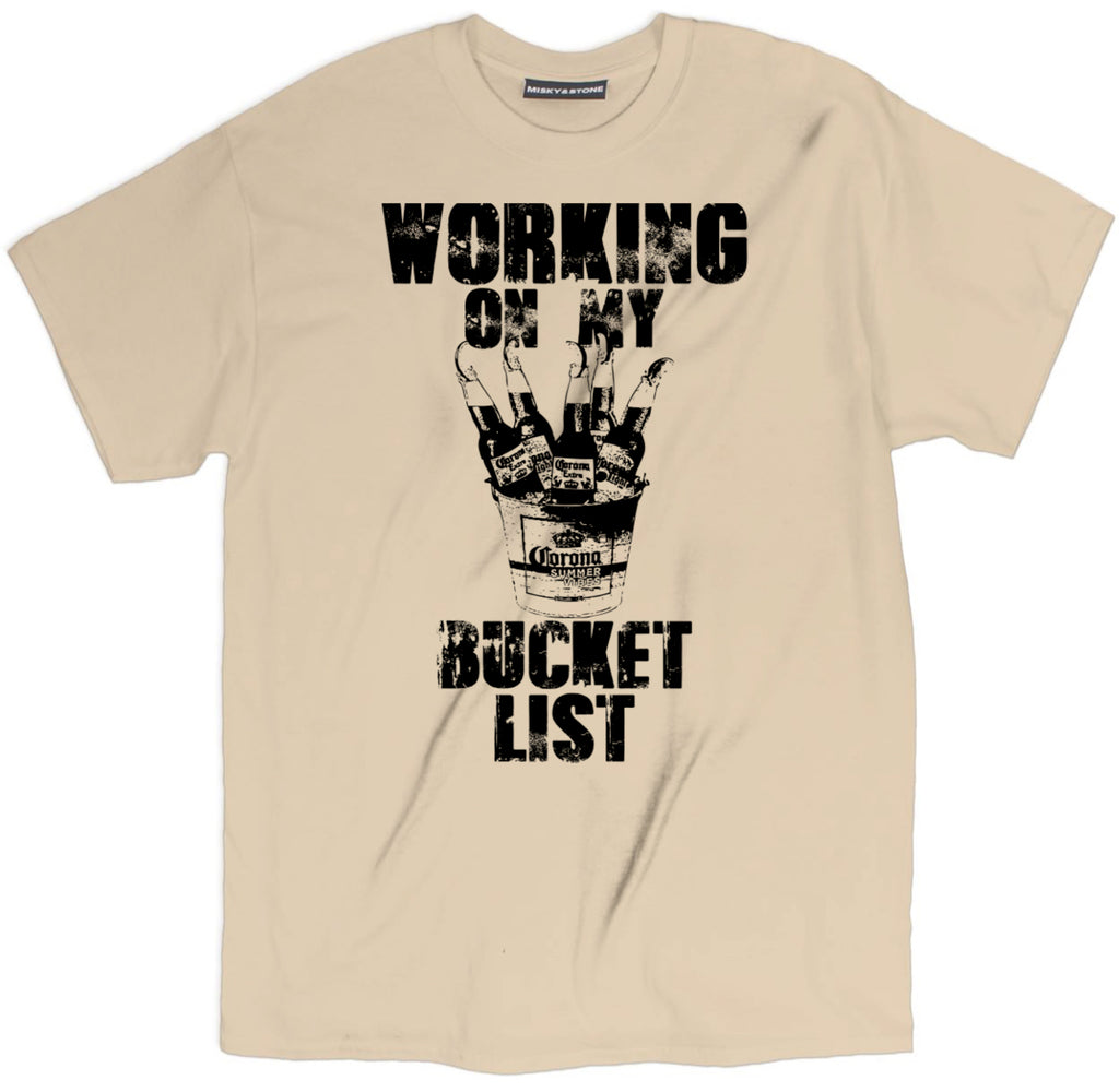 working on my bucket list t shirt, bucket list tee, drinking t shirt, funny bucket list tee, beer shirts, funny beer shirts, beer tees, beer tee shirts, funny beer t shirts, drinking shirts, alcohol shirts, funny drinking shirts, brewery t shirts, craft beer shirts, craft beer t shirts, heineken t shirt, vintage beer shirts