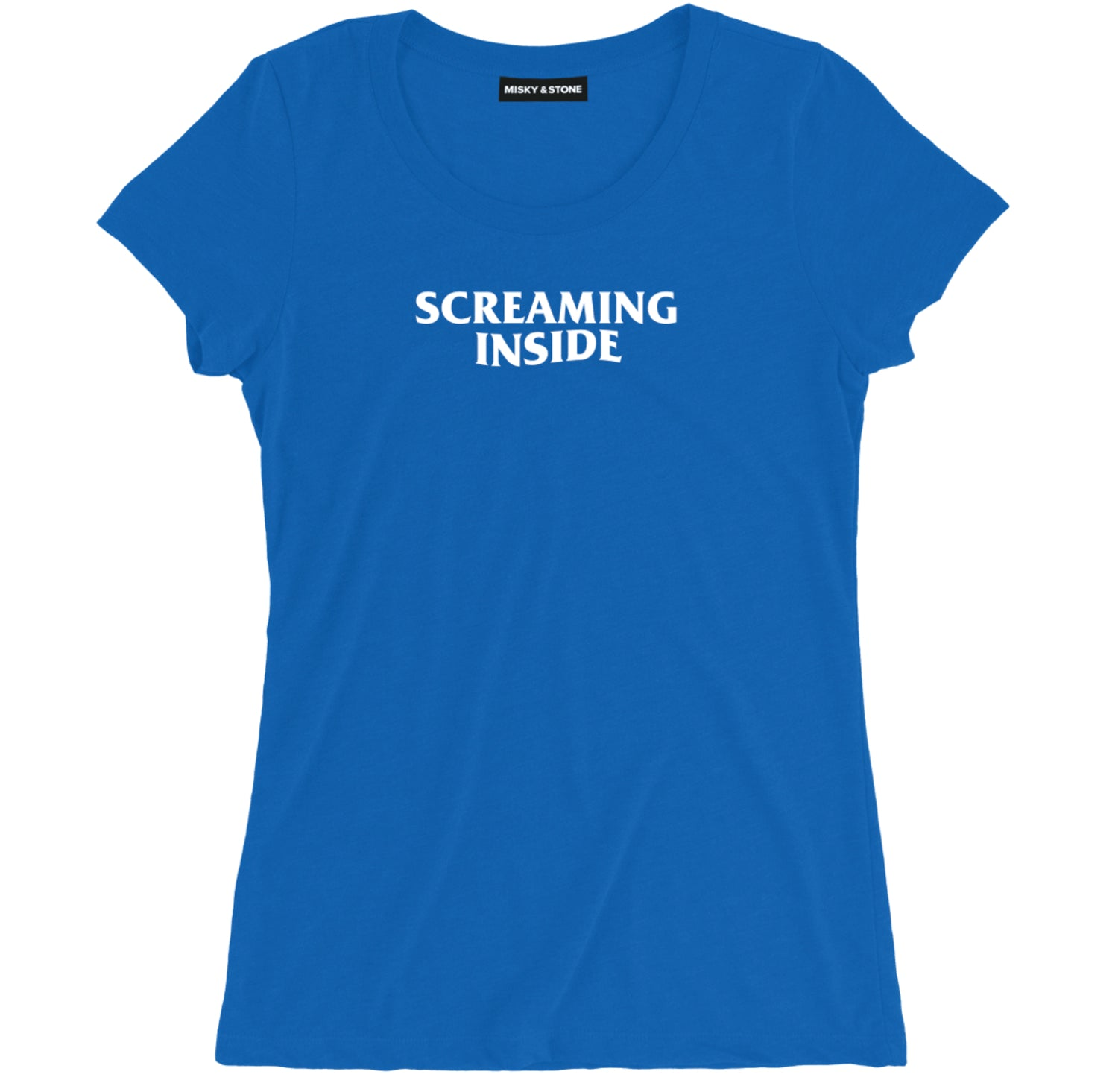 Screaming Inside Funny Sarcastic Shirt