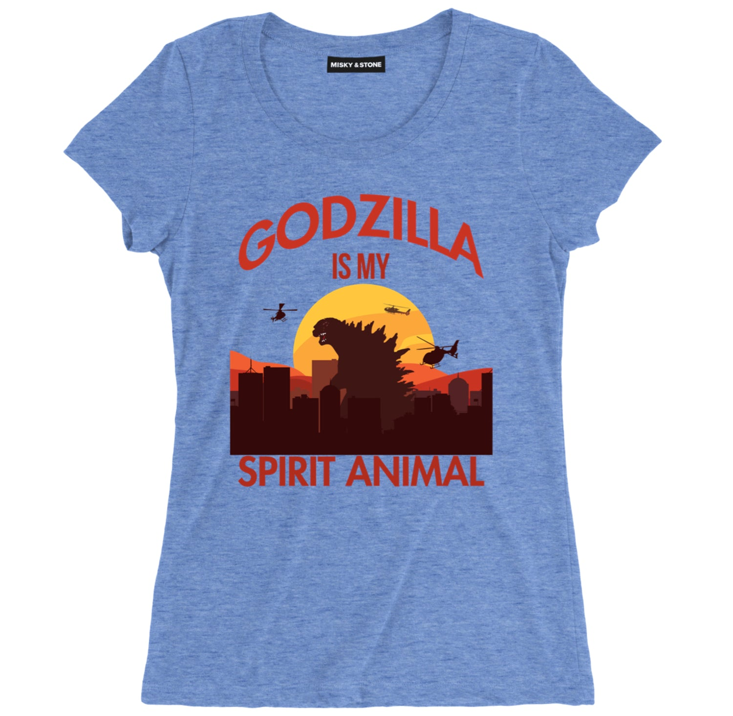 Godzilla Is My Spirit Animal Womens Tee
