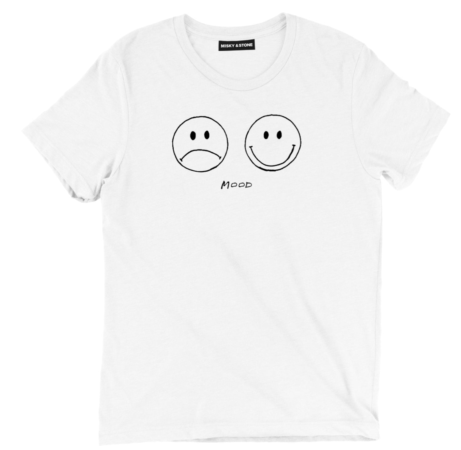 Bi Polar Mood Smiley Sad Face Tee Shirt