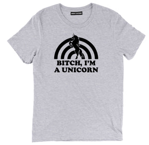 bitch im a unicorn tee shirt, unicorn tee shirt, unicorn apparel, unicorn merch, unicorn clothing,