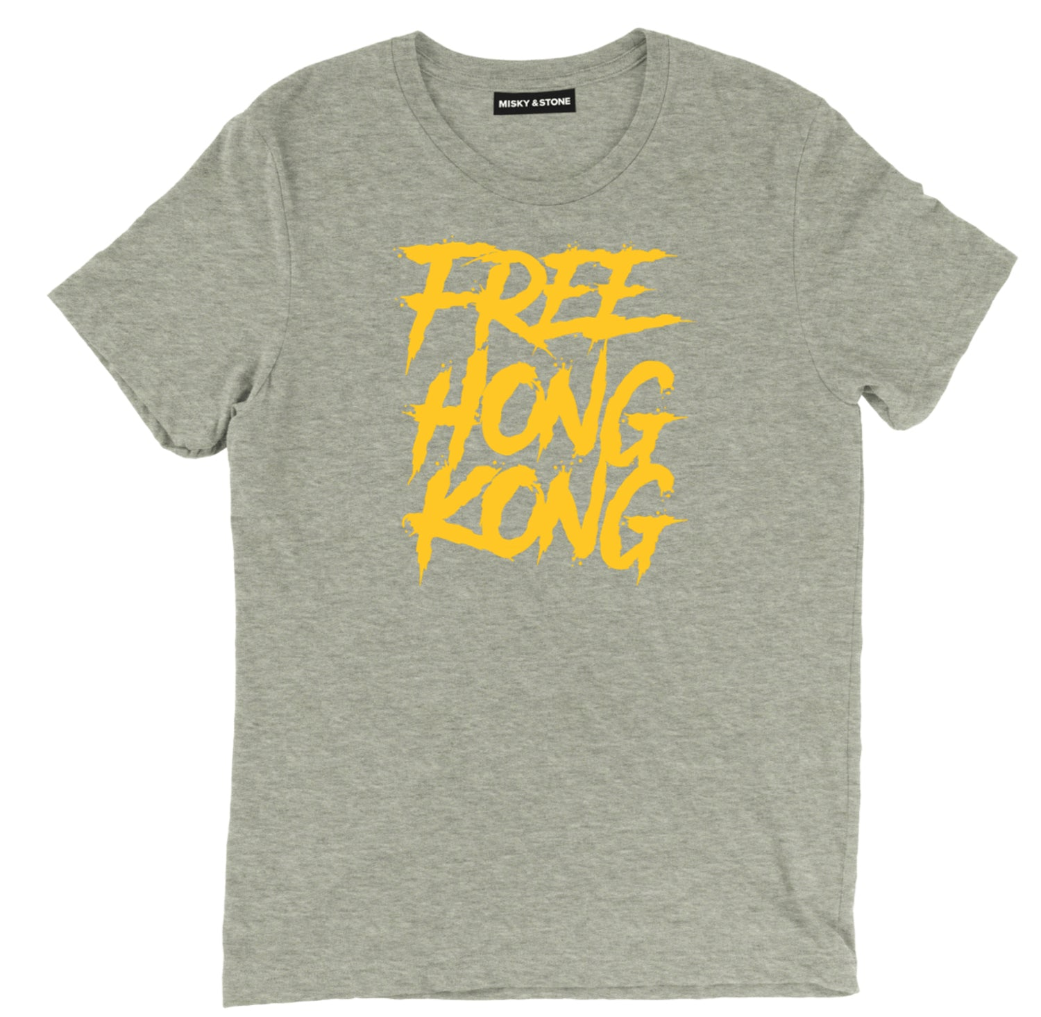 Free Hong Kong Splatter Gold Tee Shirt