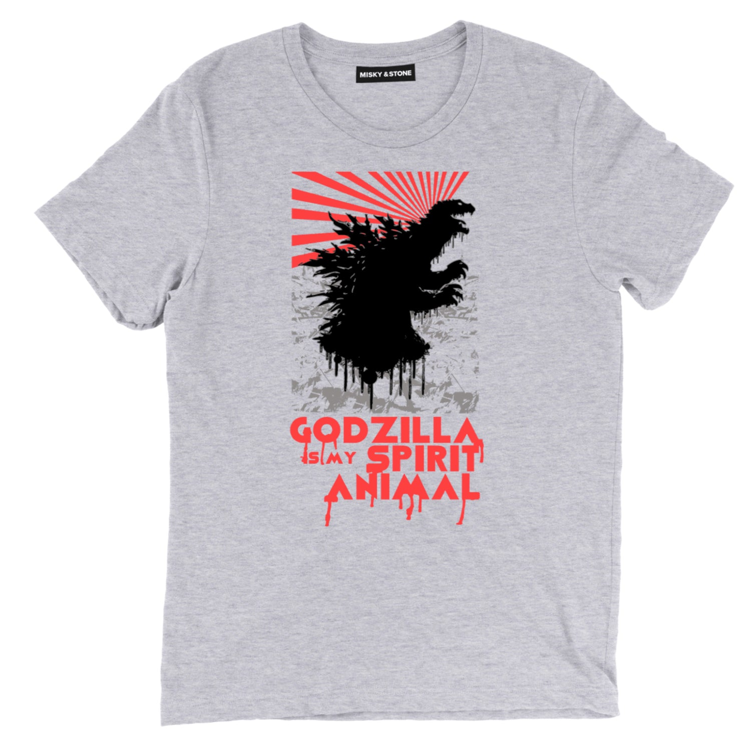 Godzilla Is My Spirit Animal Splatter Tee