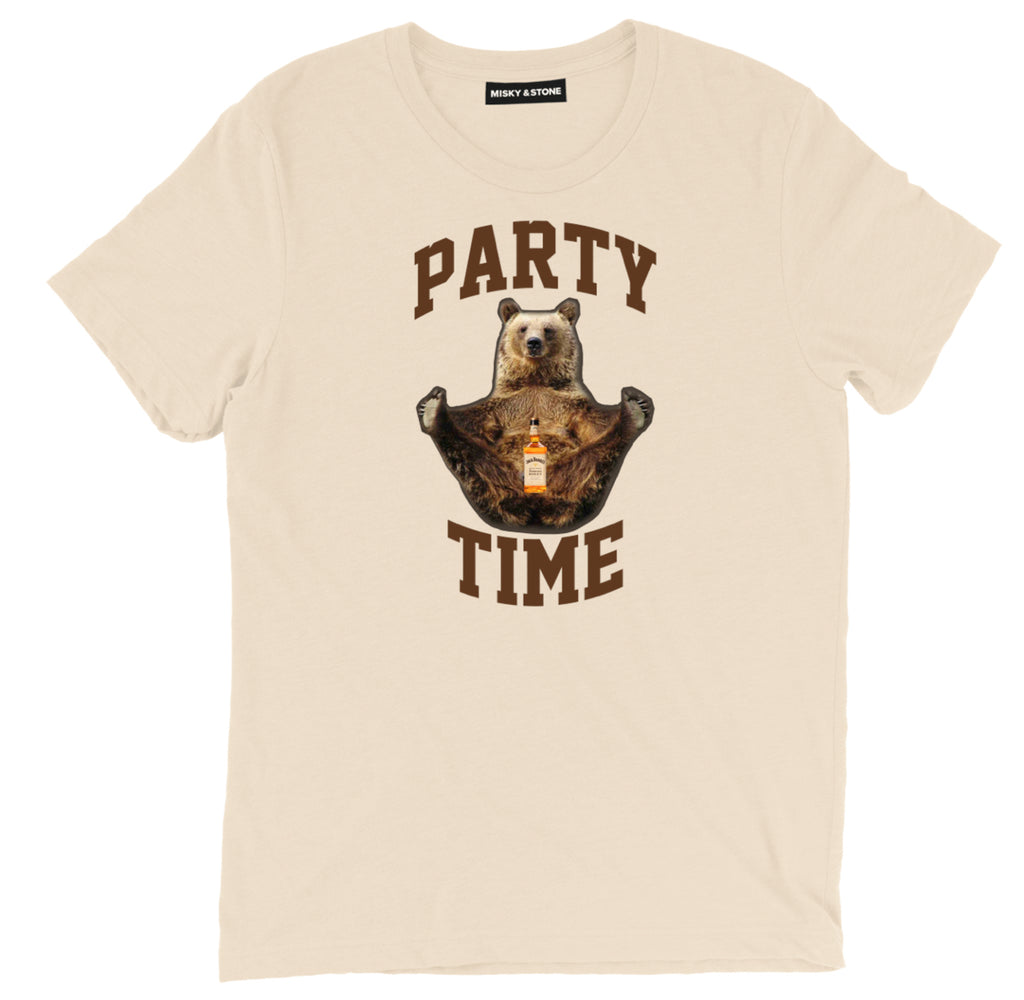 party time spirit animal tee party time funny shirt, spirit animal Bear apparel, spirit animal Alcohol merch, spirit animal clothing, funny spirit animal tee shirt, Bear t-Shirt