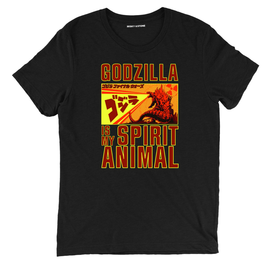godzilla is my spirit animal t shirt, godzilla t shirt, godzilla shirt, godzilla tee shirt, godzilla clothing, godzilla apparel, godzilla merch, godzilla merchandise, movie tee shirts,