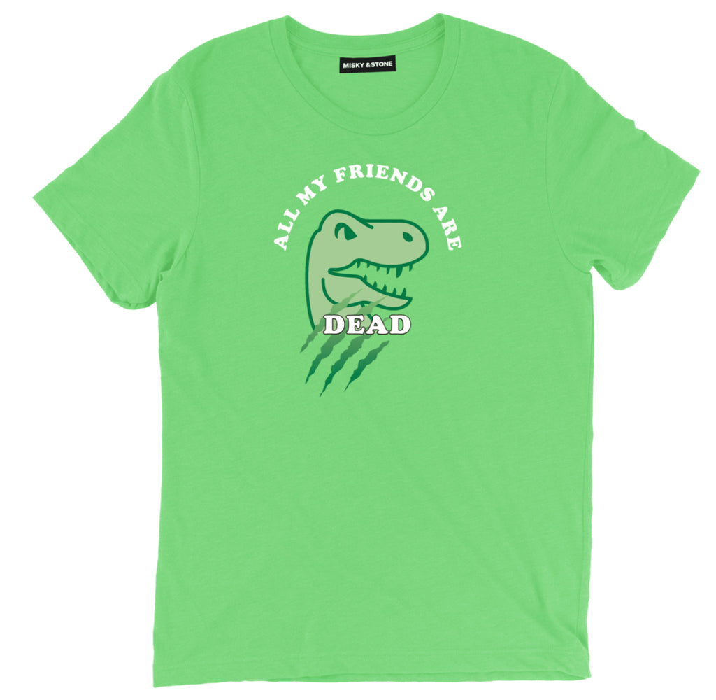 all my friends are dead hip hop tee shirt, lil uzi hip hop apparel, dinosaur hip hop merch, all my friends are dead hip hop clothing