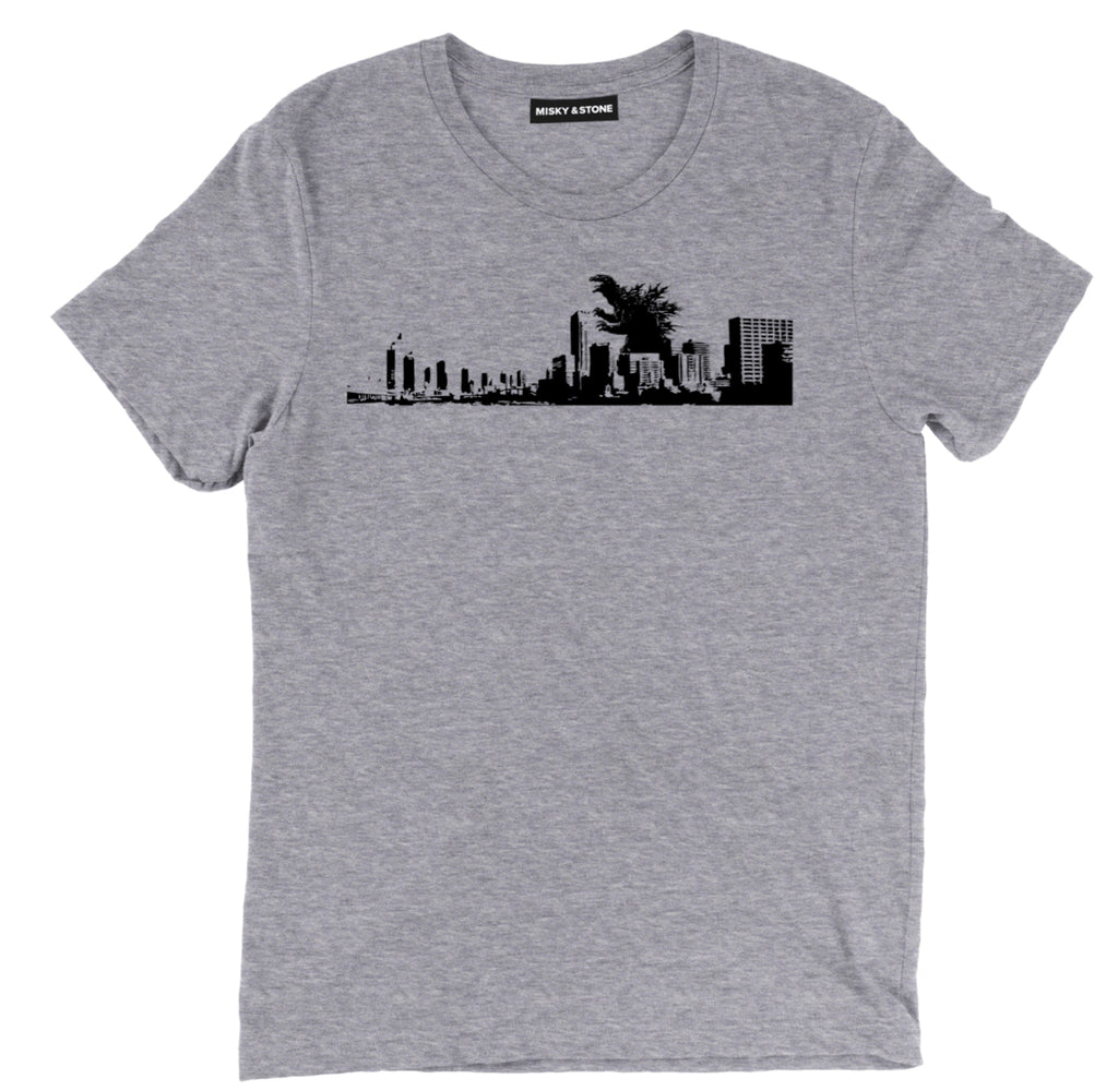 godzilla city skyline tee, godzilla city apparel, godzilla cool merch, godzilla cool t shirt, clothing