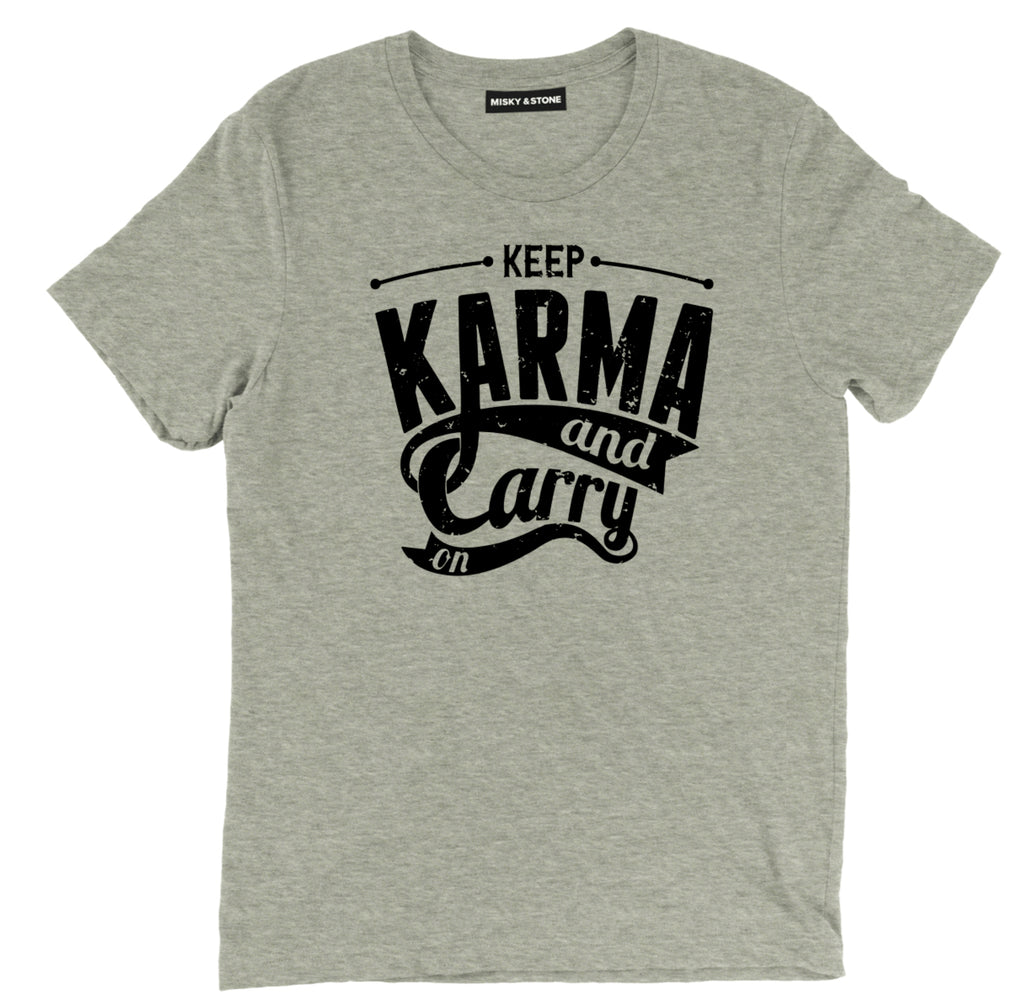 keep karma and carry on tee shirt, spiritual tee shirt, spiritual apparel, spiritual merch, spiritual clothing, spiritual quote t shirt,