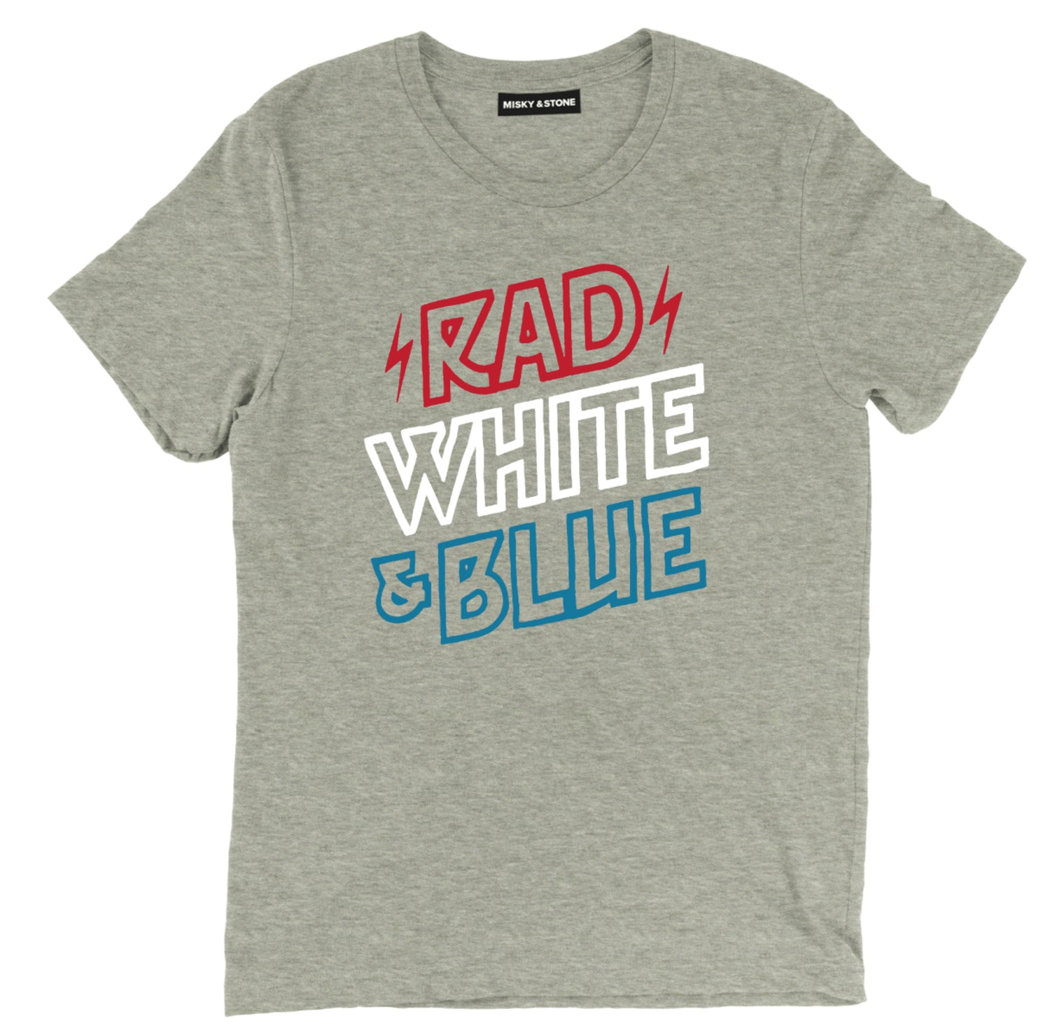 Rad White & Blue Tee