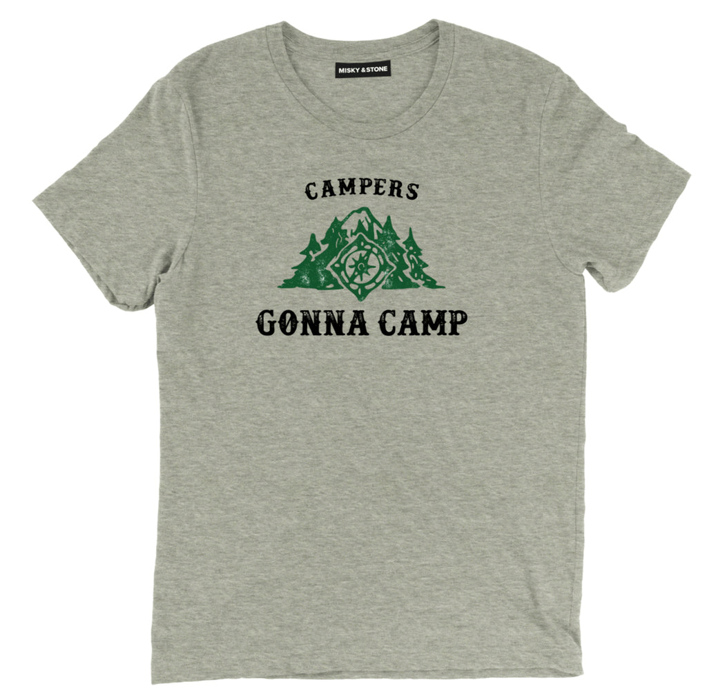 campers gonna camp t shirt, camping shirts, camp shirt, funny camping shirts, camping tee shirts, funny camping t shirts, camp t shirt designs, camp shirt designs, cool camp tees, cool camping tees, camping graphic tees