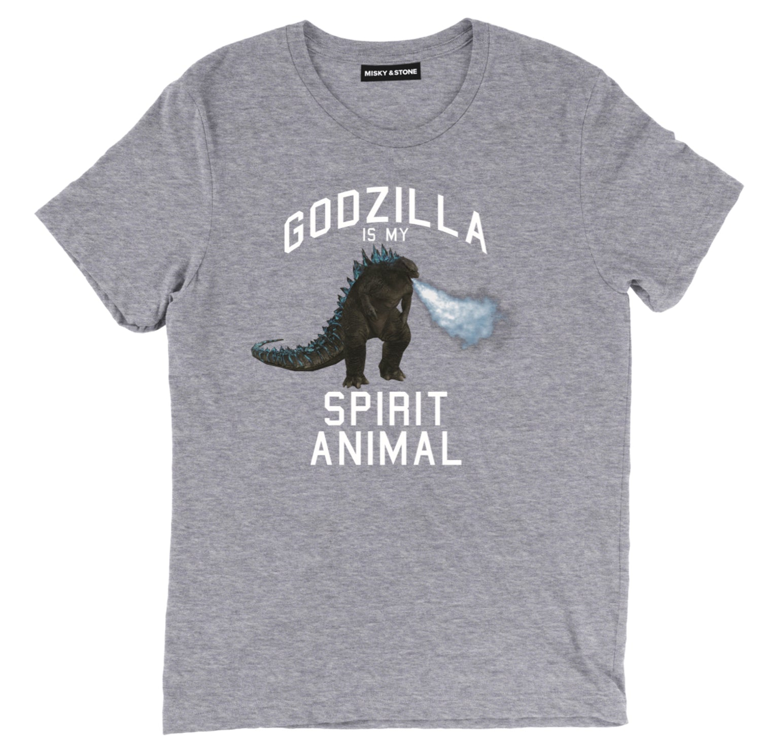 Godzilla Is My Spirit Animal Black Fashion Tee