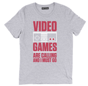 Video games are calling and i must go t shirt, video games t shirt, video games shirts