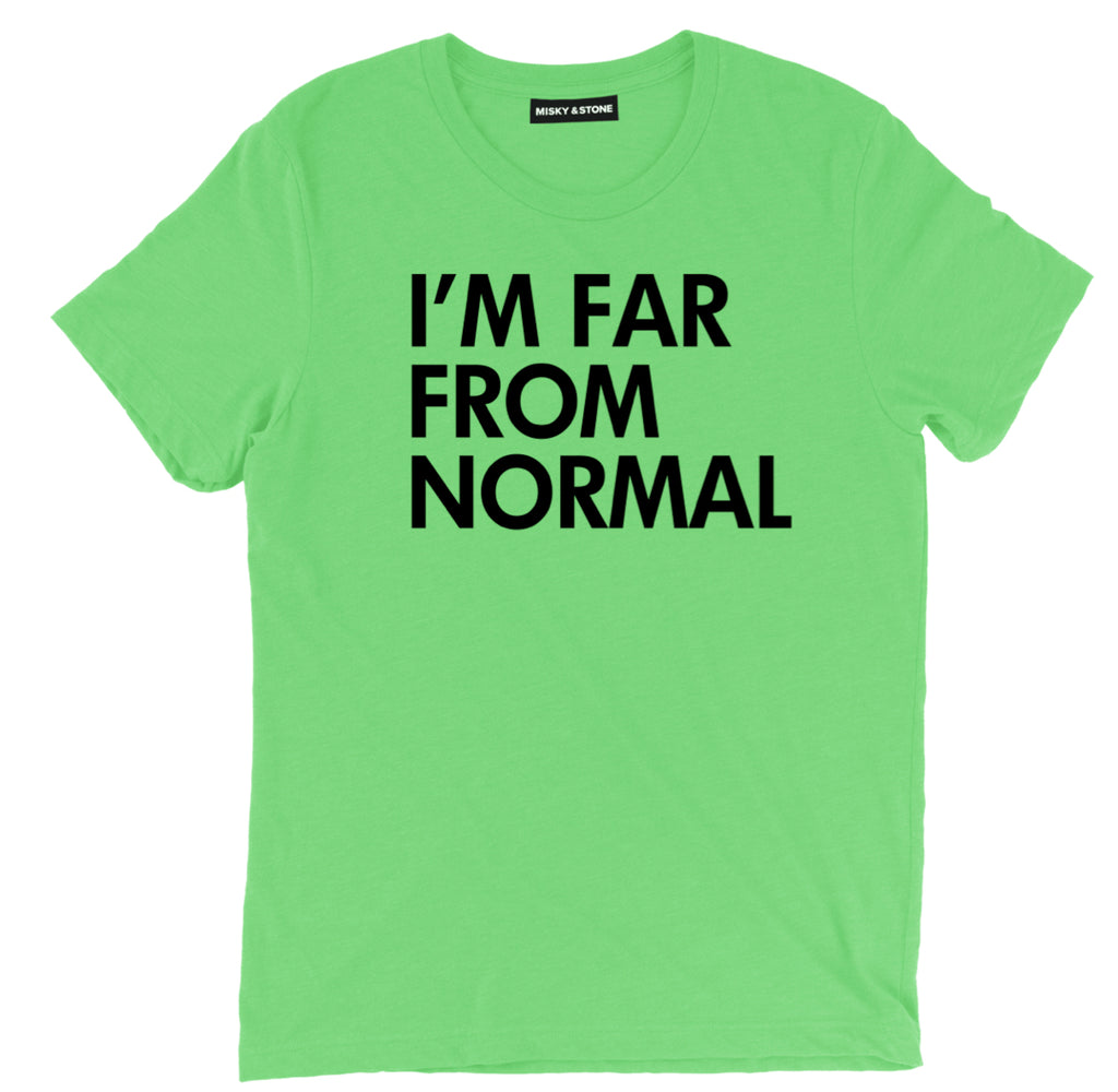 far from normal tee, beyond normal funny t shirt, not normal shirt, alien t shirt, alien shirt, alien tee, alien tee shirt, ufo t shirt, cool alien shirts,