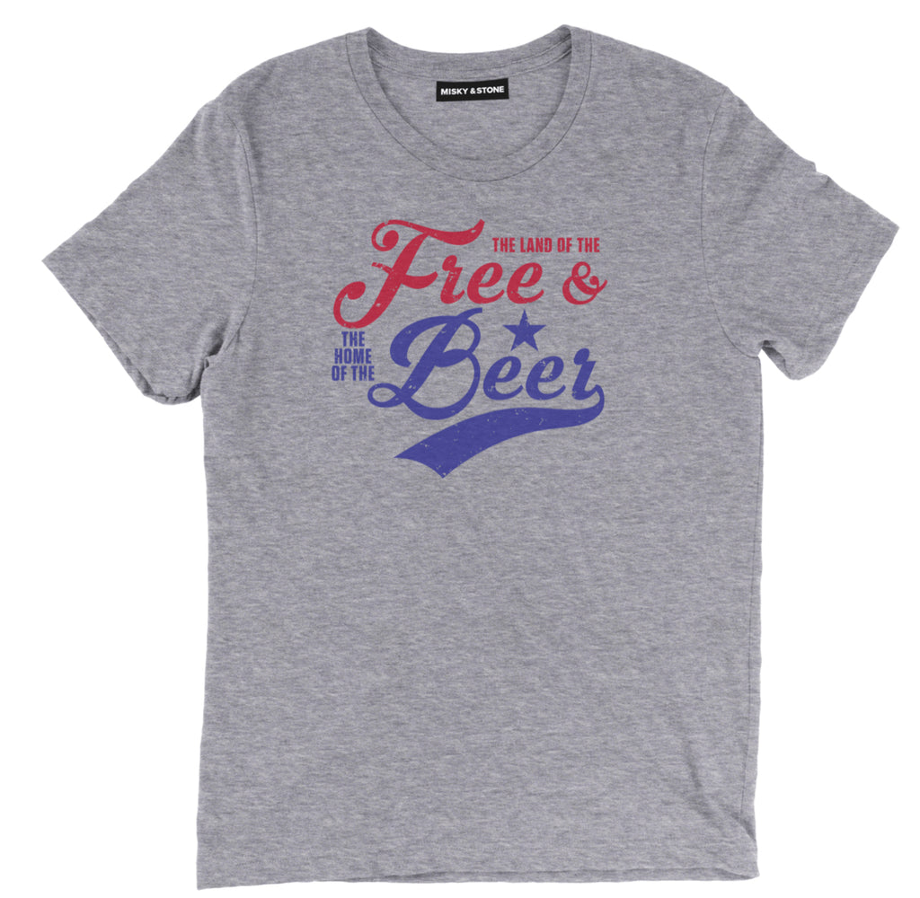 land of the free shirt, home of the beer shirt, funny beer shirt, beer shirt, funny 4th of july shirt, funny america shirt, funny patriotic shirt,