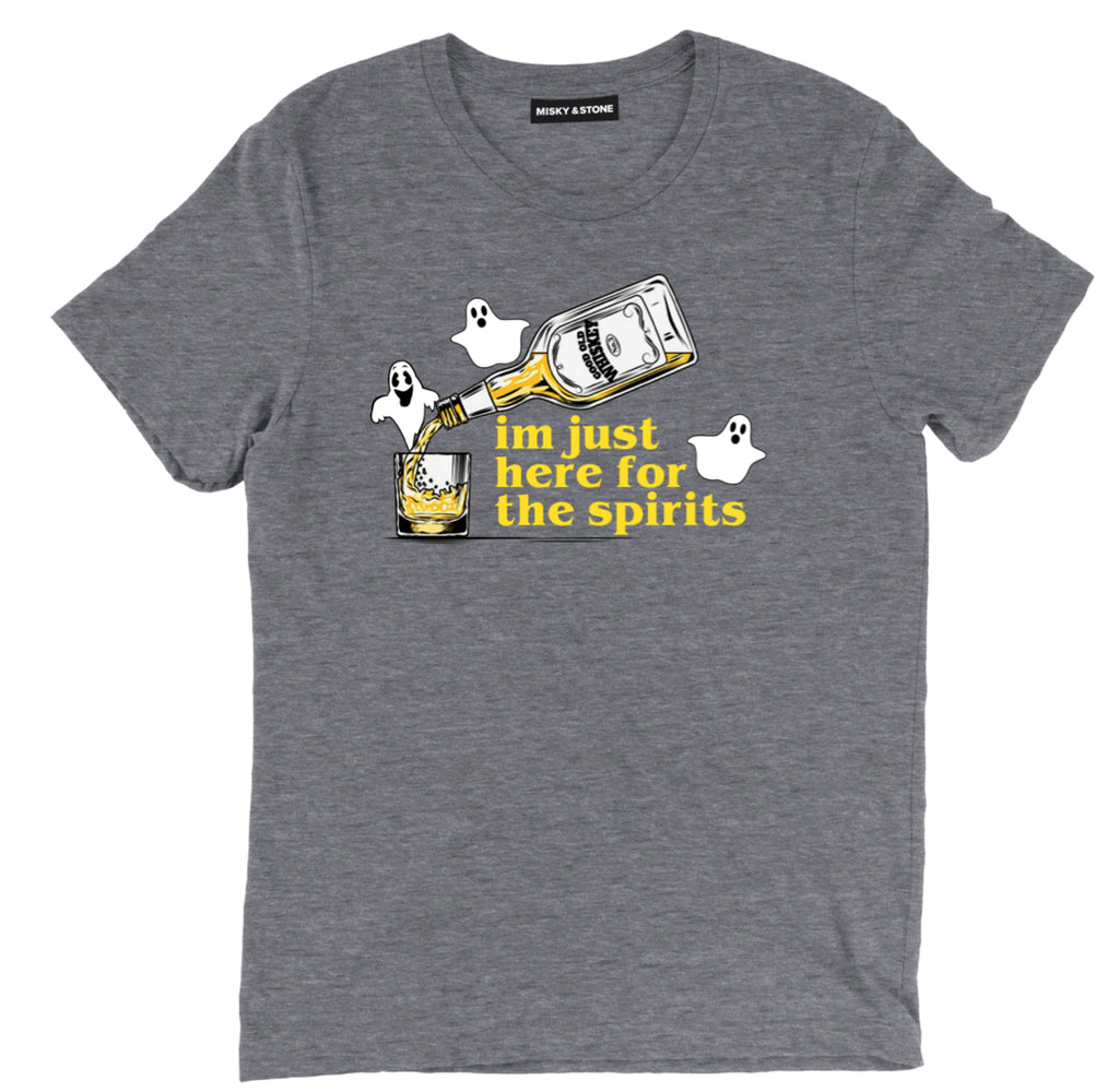 HERE FOR THE SPIRITS TEE, GHOST halloween shirts, SPRIRITS halloween t shirts, halloween tee shirts, halloween tees, funny halloween shirts, cute halloween shirts, funny halloween t shirts,
