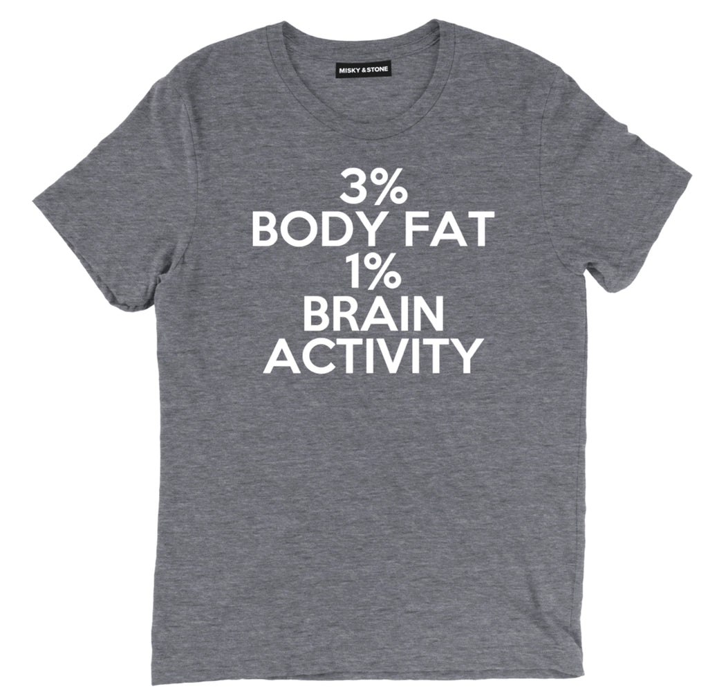 3% body fat 1% brain activity zoolander tee, funny zoolander movie tee, funny zoolander t shirt, funny meme shirts, funny meme tees, meme shirts, meme t shirts, shirts with memes