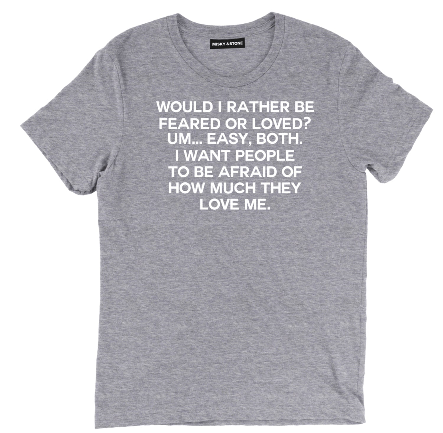 would rather be feared or loved t shirt, funny the office feared or loved tee,  michael scott shirt, michael scott t shirt