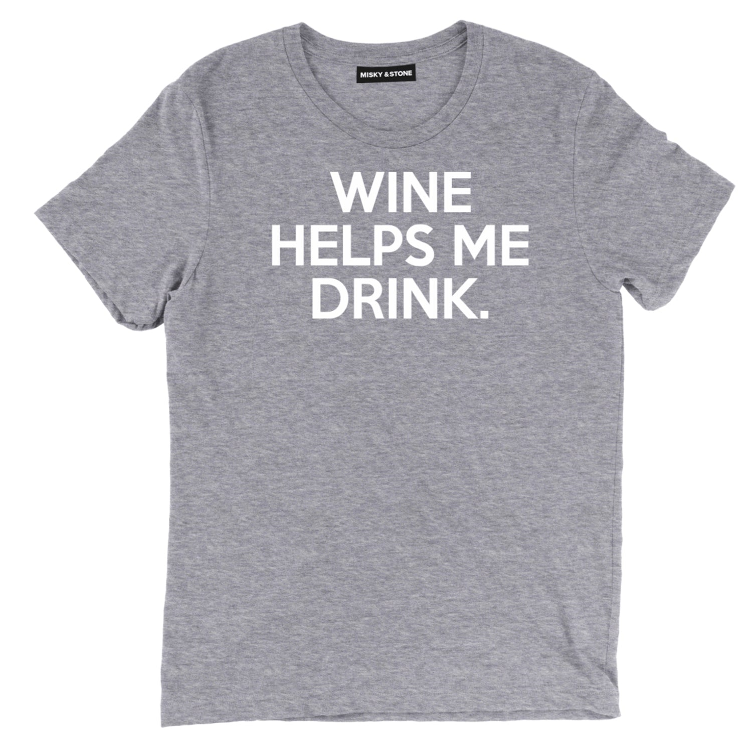 Wine Helps Me Drink Tee