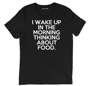 i wake up thinking about food t shirt, thinking about food shirt, guy fieri t shirt