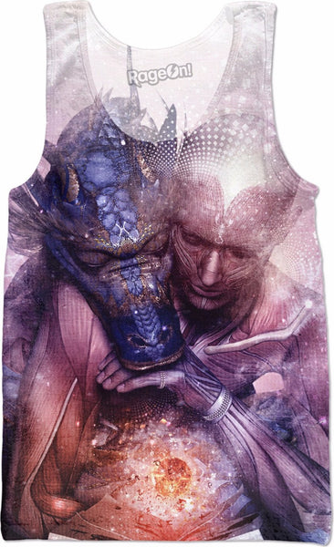 Perhaps The Dreams Are of Soulmates - Dragon Tank Top