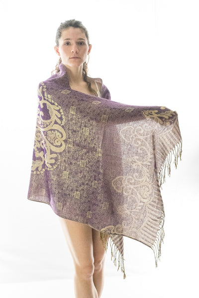 Purple Mystic Pashmina Shawl
