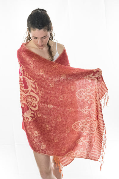 Red Mystic Festival Shawl