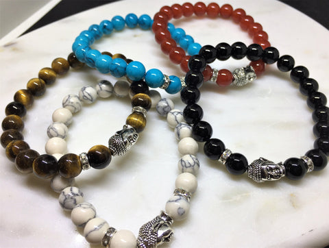 Buddha Bracelet with Natural Stones