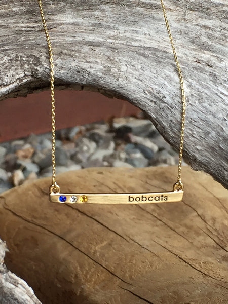 MSU Bobats Bar Necklace