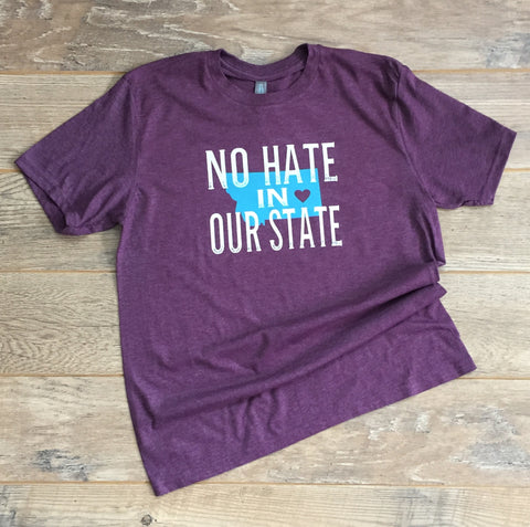 a1  No Hate in Our State T-shirt