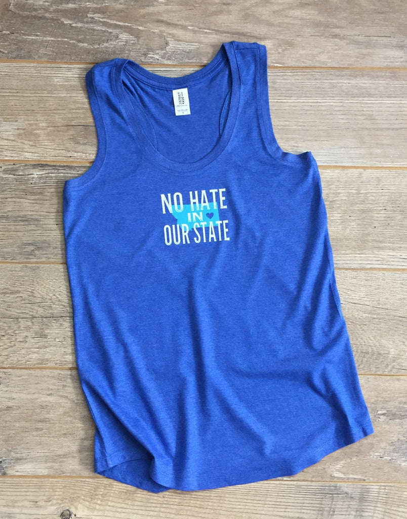 a2   No Hate in Our State Ladies Tank