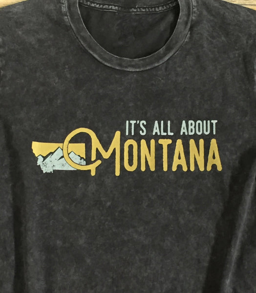 It's All About Montana Relaxed Mineral Wash T