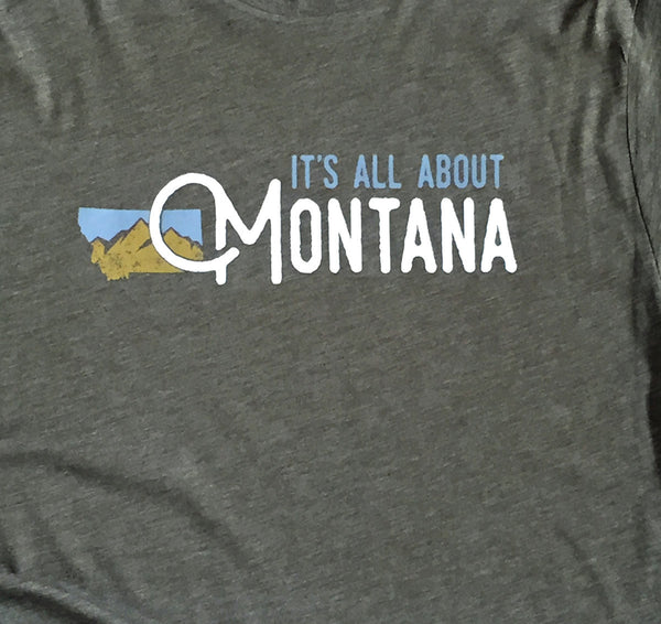 It's All About Montana Triblend Crew