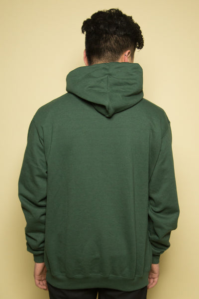 The Champion Alphabet Hoodie in Forest Green
